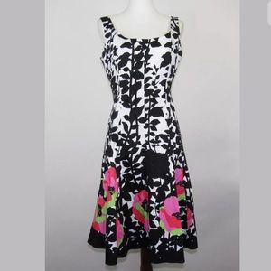 Nine West Women's Black and White Floral Dress